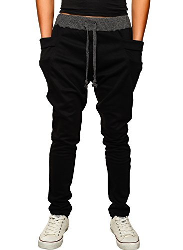hemoon-mens-jogging-pants-tracksuit-bottoms-training-running-trousers-black-s