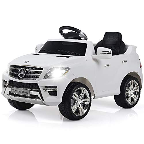 Costzon White Mercedes Benz ML350 6V Electric Kids Ride On Car Licensed MP3 RC Remote Control