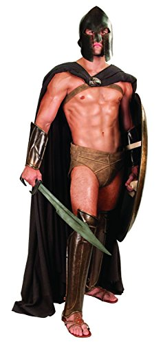 [Greek Spartan Long Cotton Cape from 300: Rise of an Empire (Black)] (Spartan 300 Halloween Costumes)
