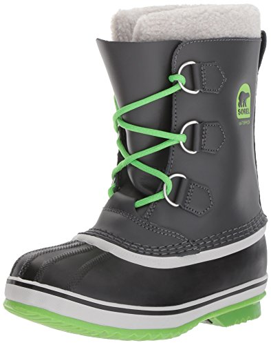 Sorel Unisex-Kids Yoot Pac TP, Shark, Cyber Green, 2 M US Big Kid ()