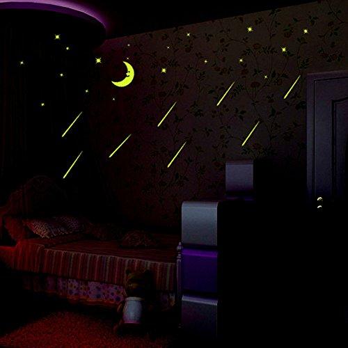 DIY Wall Decals Decor Sticker Ceiling Bedroom Kids Room Fluo