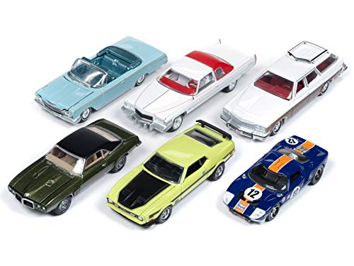 Autoworld Muscle Cars Premium 2018 Release 4 B Set of 6 Cars 1/64 Diecast Model Cars by Autoworld 64192 B