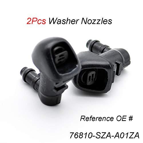 Xukey 2Pcs Front Windshield Washer Nozzle Jet Set For Honda Pilot MK2 2015 2014 2013 2012 2011 2010 2009