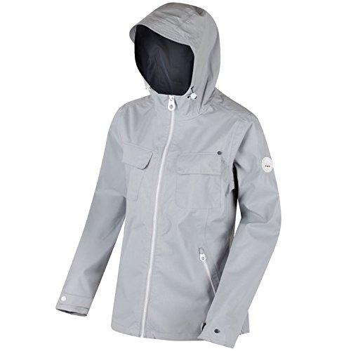 237addb30 Regatta Womens/Ladies Jakeisha Waterproof Hooded Jacket (8 UK) (Light Steel)