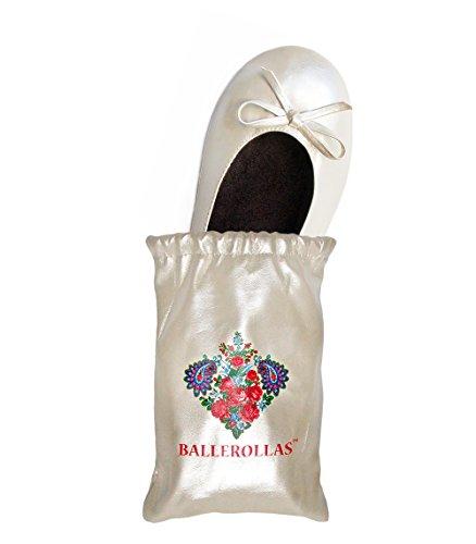 BALLEROLLAS Faltbare Ballerinas Afterparty Schuhe - Wechselschuhe, Weiß, Gr. 37/38