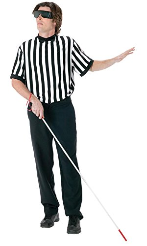 Blind Referee Costume (Blind Referee EZ Guy Costume Costume - Standard - Chest Size 33-45)
