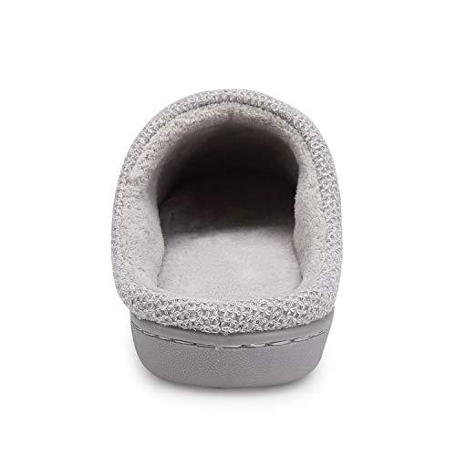 Top Peluche Mémoire Anti Slip en Bas D'intérieur Chaussons Chaussures Pantoufles Doux Femmes Gris Chaud Dames Mule Léger Mousse wzqYcC