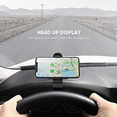 UGREEN Car Phone Mount Dashboard Clip Cell Phone Holder HUD Compatible for iPhone 11 Pro Max SE Xs XR X 8 7 6 Plus 6S 5, Samsung Galaxy S10 S9 S8 Plus Note 9 8, Google Pixel 3 XL, LG V40 V30 G7 G6