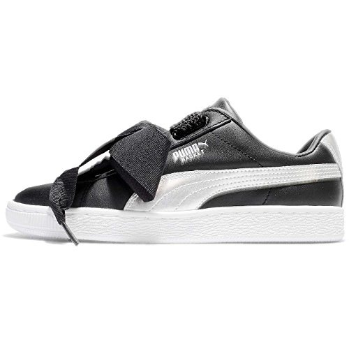 Basket Wn's Mujer Para Heart Puma Patent Noir Zapatillas fxd8Pw