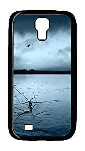 Samsung Galaxy S4 Case,Customize Ultra Slim Geese Flying Hard Plastic PC Blcak Case Bumper Cover for S4