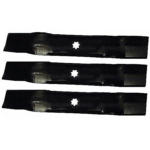 3 Pack - Stens 330-445 Hi-Lift Blades John Deere LA130, LA140, LA145, LA165 48