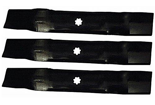 "3 Pack - Stens 330-445 Hi-Lift Blades John Deere LA130, LA140, LA145, LA165 48"" Lawnmower Deck"