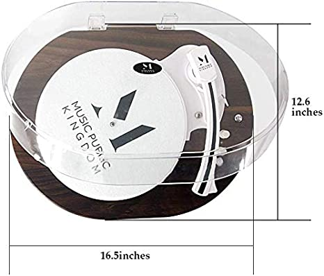 Bluetooth port/átil inal/ámbrico LED Integrado Tocadiscos de Vinilo LP 2 velocidades impulsado por Correa Reproductor de Vinilo Altavoz est/éreo Colorido Tocadiscos para Reproductor de Discos