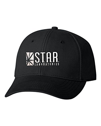 Go All Out Adjustable Black Adult Star Labs Embroidered Dad Hat Structured Cap -