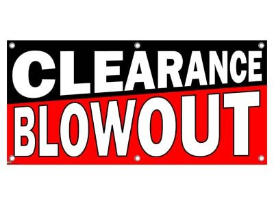 Clearance Blowout Sale - Store Retail Business Sign Banner