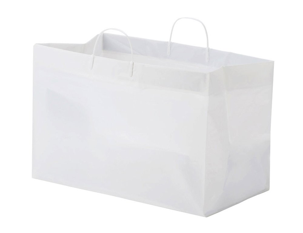 Glopack SCSLWTQD Bag for Side by Side Containers with Rigid Handle, 12'' Length x 19'' Width (Case of 200)