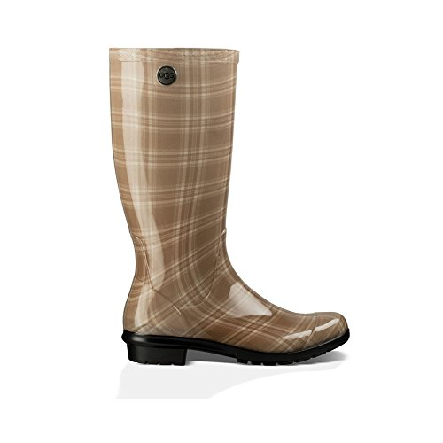 UGG Women's Shaye Plaid Cream Boot 7 B (Shaft Rain Boot)