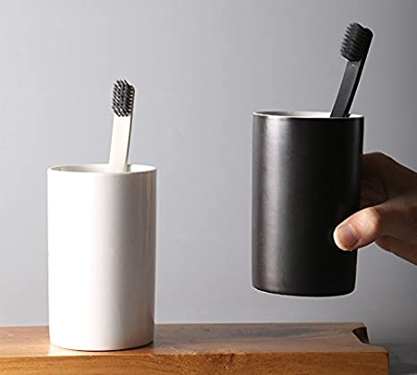 LUANT Ceramic Toothbrush Holder White