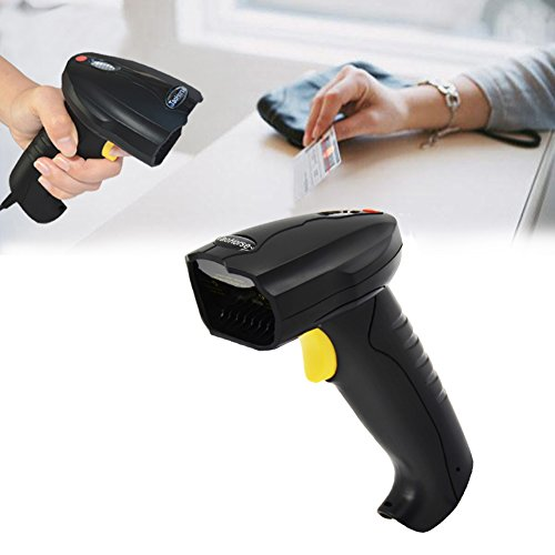 TaoHorse Handheld USB Barcode Scanner Wired Laser 1D Bar Code Reader with Automatic Continuous Scanning for POS PC Laptop Plug and Play by TaoHorse (Image #5)