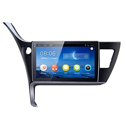 FEELDO 10.1 inch Android 6.0 Quad Core Car GPS Bluetooth Navi Radio USB Media Player For Toyota Corolla 2017(LHD) by FEELDO
