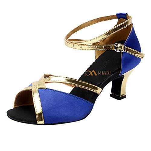 Aperta Scivolo Punta Sala Latino Principessa Scarpe amp;bambina Standard Donna Azul Anti Da 5cm Eleganti Serie Tacco Sandali 7cm 5 Ballo Raso Premio qv6aOw