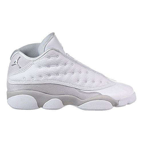 Jordan Retro 13 Low ''Pure Platinum'' White/Metallic Silver (Big Kid) (7 M US Big Kid) by Jordan
