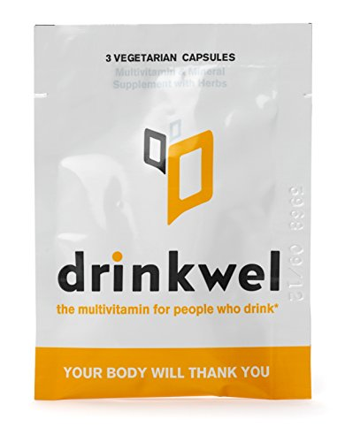 Drinkwel for Nutrient Replenishment & Liver Support (4 To-Go Packets with Organic Milk Thistle, N-acetyl Cysteine, Alpha Lipoic Acid, and DHM)
