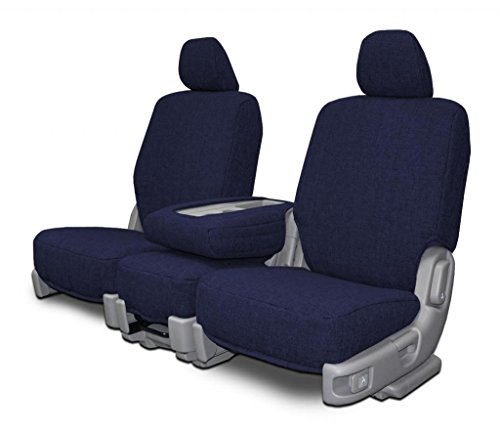 Custom Seat Covers for Scion XB 5-DR Front Low Back Seats - Navy - Tweed Dr