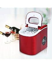 Dsti Mini máquina de Hielo Comercial máquina de Hacer Hielo Máquina para Hacer Cubitos de Hielo Entre 6 y 13 Minutos 12 kg / 24 Horas, 2 tamaños de Cubos, Toque, Poco Ruido,Red