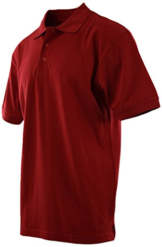 Mens Classic Cotton Pique Polo Shirts (Many Styles Colors to Choose from) S up 5XL (L, 8844-Red-DryComfort)