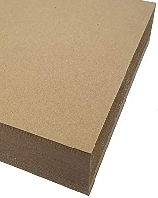 8.5 x 11 Creative Projects and Protecting Valuable Photos and documents. Kraft Brown Pack of 15 Great for Model Building Scrap-Booking Easy Cut Chipboard Sheets