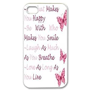 Custom Colorful Case for Iphone 4,4S, Happy Life Cover Case - HL-503226