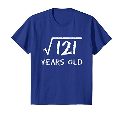 Kids Square Root of 121: 11th Birthday 11 Years Old T-Shirt 12 Royal (Gift Ideas For 11 Year Old Boy)