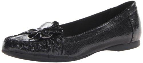 AK Anne Klein Women's Kismet Slip-On Loafer,Black Synthetic,8 M US
