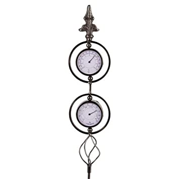 Buri Garten Wetterstation Thermometer Hygrometer Luftfeuchtigkeit