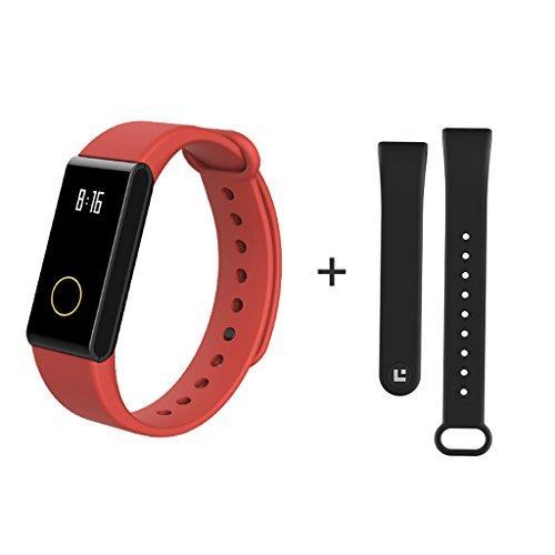 DQMSB Monitor de Pulsera de Fitness con Monitor de Ritmo cardíaco Reloj de Bluetooth con calculadora de Cuenta de Paso Reloj...