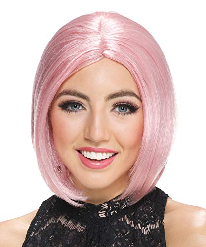 FROSTED MIDI BOB ROSE WIG -