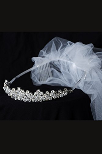 Kids Dream Precious First Communion Flower Girl Veil w/Elegant Princess Crown for Girls by Kid's Dream (Image #2)