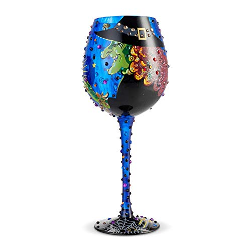 Enesco 6004428 Designs by Lolita Bling Cast a Spell Hand-Painted Artisan Wine Glass 22 Ounce Multicolor]()
