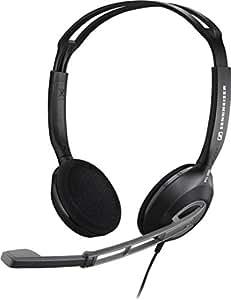 Sennheiser PC 230 - Auriculares de diadema abiertos (con micrófono, reducción de ruido), negro