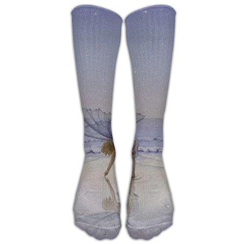 Fairy Girl Picking The Seashells Long Stockings Unique Socks Athletes Long Tube Stockings Holiday Gift - Kid Athlete Athletic T-shirt