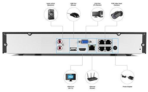 amcrest hd security system weatherproof ip67 bullet cameras 65ft ir led