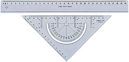 18CM Blu. righello in acciaio inox disegno e misurazione righello in lega di alluminio righello di misurazione per studenti strumento per geometria matematica 4 in 1 Accod