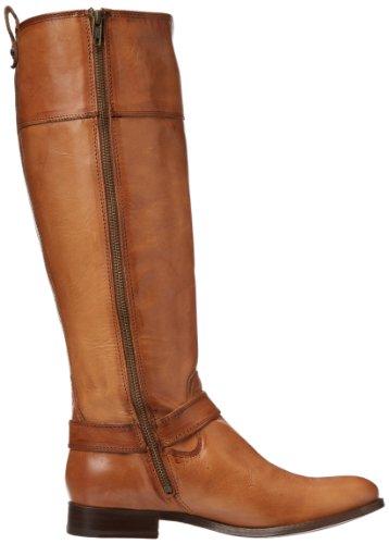 Frye Womens Melissa Harnas Inside-zip Boot Camel Smooth Vintage Leer Wijd Kalf-76927