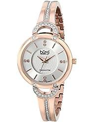 Burgi Womens BUR105RG Analog Display Swiss Quartz Rose Gold Watch