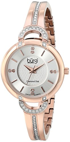 Burgi Women's BUR105RG Analog Display Swiss Quartz Rose Gold Watch