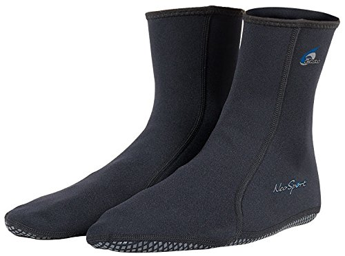 NeoSport Wetsuits Premium Neoprene 2mm Neoprene Water Sock, Black, Size (Neoprene Dive Boots)