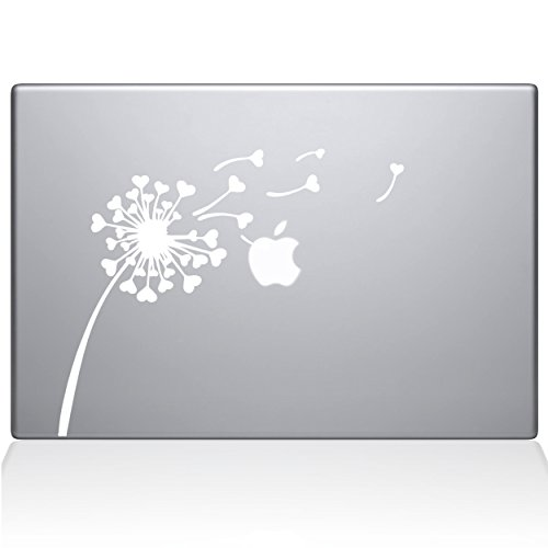 The Decal Guru 2045-MAC-12M-W Dandelion Hearts Decal Vinyl S