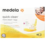 Medela Quick Clean Micro-Steam Bags, 2 Packs of 5 bags