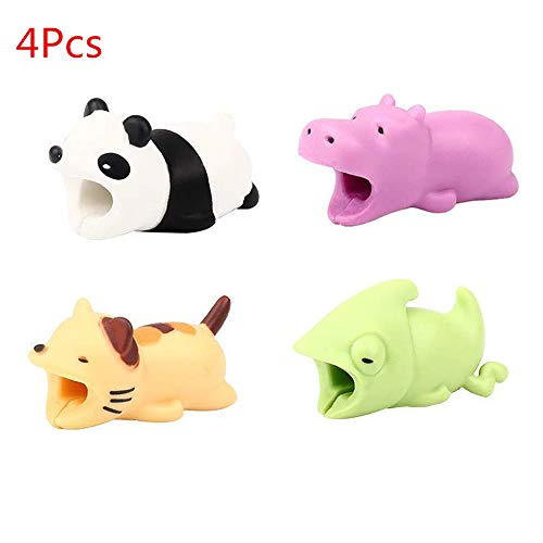 EnjoCho Animal Cable Bite Protector for Iphone Cable Winder Panda Phone Holder Accessory Organizer Dog Cat Doll Toys (4PCS, J-2) by EnjoCho (Image #7)